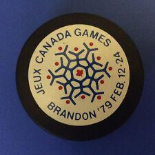 Vintage 1979 Canada Games Hockey Puck Brandon Manitoba Feb. 12-24 Canada