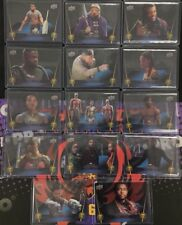 LOT (14) Clear Acetate PETG Base Parallels 2018 Upper Deck Marvel Black Panther