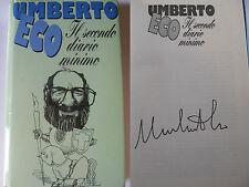 IL SECONDO DIARIO MINIMO Umberto Eco AUTOGRAFATO euroclub 1.ed best seller