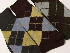 Men's Dress Socks 3 Pack Size 10-13 (Shoe Size 6-12) Grey/Brown/Forest Green