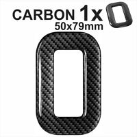 3d Gel CARBON Number Plates Domed Resin Making Letter O DIY Registration UK REG