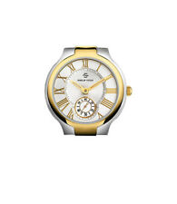 Philip Stein Two Tone Yellow Gold Classic Round Large Men's Watch 42TG-CWG