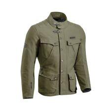 10% IXON EXHAUST KHAKI Textile Long Vintage Warm/Waterproof Motorbike Parka Coat