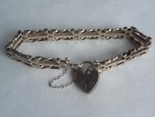 Provided Silver Padlock Bracelet Marked 925 Lc 12.4 Grams Fine Jewelry