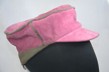 KANGOL PINK SUEDE BOUGLE MAU ARMY CAP HAT SIZE SML 55CM NWT NEW WITH TAGS DEFECT