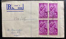 1948 Lagos Nigeria cover Locally Used King George VI Silver Weeding