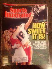January 11 1988 Miami College Football Sports Illustrated Magazine Champions OLD