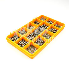 200 PIECE A2, M5 GRUB SCREW KIT CUP POINT HEX SET SOCKET CAP SCREWS DIN916 SS 04