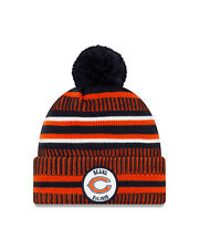 New Era NFL Chicago Bears Home Bobble 2019/2020 Sport Knit Sideline Beanie Hat