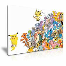 Pokemon Pikachu /& Friends canvas wall art Wood Framed Ready to Hang XXL,