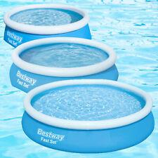 Bestway Pool Fast Set aufblasbar Planschbecken Swimmingpool rund Schwimmbecken