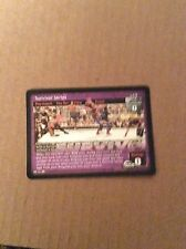 Survivor Series WWE Raw Deal PPV foil promo card from 2005 33/PR
