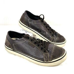 EUC Crocs Hover Brown leather Sneaker Sz 10