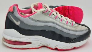 Nike Air Max 95 Leather Trainers Grey/Pink 310830-005 UK3.5/US4/EU36