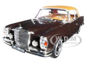 1969 MERCEDES BENZ 280 SE CABRIOLET DARK BROWN 1/18 DIECAST CAR BY NOREV 183568
