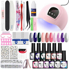 UR SUGAR 7.5ml Gel Polish Kit UV LED Lamp 54W Nail Dryer Tips Starter Tool Lots