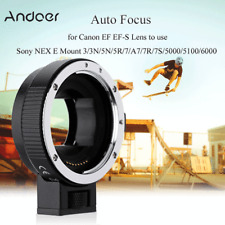 Auto Focus AF TTL Lens Adapter Ring Mount for Canon EOS EF EFS to SONY E NEX A7