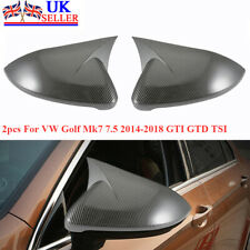 For VW Golf Mk7 7.5 2014-2018 GTI GTD TSI R Real Carbon Fibre Wing Mirror Covers