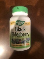 Nature's Way Black Elderberry Capsules 575 mg serving Immune Support 100-Count