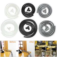 2M Kabelschlauch Kabelspirale Schutz Schlauch 10mm 25mm Kabelbündel Spiralband