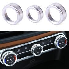 3X Klimaanlage Drehknopf Abdeckung Blende Dekorativ Rahmen FÜR Alfa Romeo Giulia