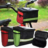KQ_ Portable Outdoor Bicycle Front Frame Tube Bag Bike Handlebar Basket Accessor