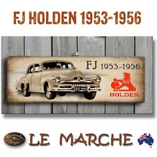 """HOLDEN GM """"1953-1956 FJ"""" Wooden Rustic Plaque / Sign (FREE POST)"""