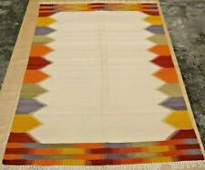 Large Afghan Kilim Rug Carpet Hand Woven Traditional Ghazni Wool Kelim 5x8 feet