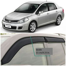 NE11604 Window Visors Vent Wide Deflectors For Nissan Tiida Sd C11 2004-2013