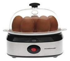Electric 7 Egg Boiler Cooker Stainless Steel Soft Hard Boiled Breakfast