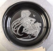 Morgantown Crystal Laurel Plate by Michael Yates Country Ladies Hand Carved 1984