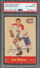1955/56 Parkhurst #44 Jean Beliveau PSA/DNA Certified Authentic Signed *3513