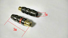 2pcs  copper Gold Plated RCA socket  Audio Female ADAPTER soldering