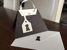 Designer Hand Made Labrador Handbag Card With Bone Charm