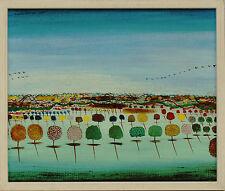 René Brô (Rene Bro)  PAYSAGE  Gemälde 1978 (Hundertwasser Freund aus Frankreich)