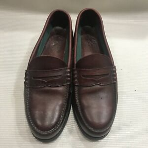 Nice - Red Wing Steel Toe Burgundy Penny Loafers Men's Size 10 D Made In USA