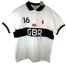 Ralph Lauren Polo Pony Custom Fit 100% Cotton Great Britain Shirt Stripe #16 XL