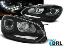 Paire de feux phares VW Golf 6 de 2008 a 2012 Daylight led DRL noir