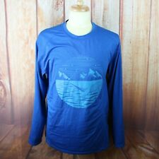 Alaskan Hardgear Men's Large Long Sleeve Shirt Duluth Blue Mountains Polyester