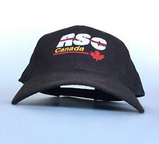 RSC Canada Embroidered Logo Black Baseball Cap Hat Adj Adult Size Cotton