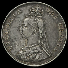 1889 Queen Victoria Jubilee Head Silver Double Florin, VF