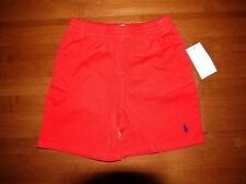 NWT Ralph Lauren Boys Red Chino Pony Shorts Sz.  24 Months