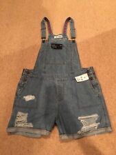 DL1961 Cara Smart Denim Distressed Shorts Overalls Size L NWT $178!