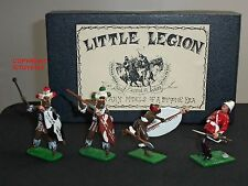 LITTLE LEGION ZULU WAR 3 RORKES DRIFT WARRIORS + BRITISH 24TH FOOT FIGURE SET