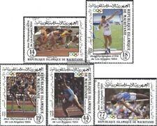 Mauretanien 821-825 (kompl.Ausg.) gestempelt 1984 Sommerolympiade Los Angeles