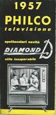 Depliant Catalogo Philco 1957 Diamond Decatron Televisori Elettronica vintage