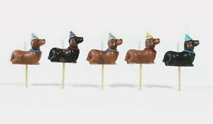 PREMIUM 3D Dachshund Cake Candles, Birthday Cake, Cake Topper