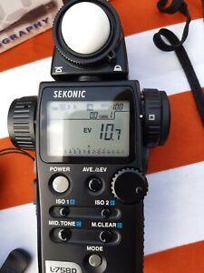 Sekonic L-758D Light Meter Boxed