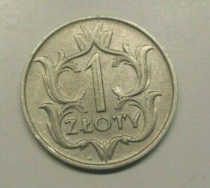 POLAND  1 ZTOTY 1929 RARE