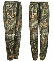 MENS JUNGLE PRINT CAMO CARGO COMBAT FLEECE JOGGING SWEAT PANTS BOTTOMS M- 5XL